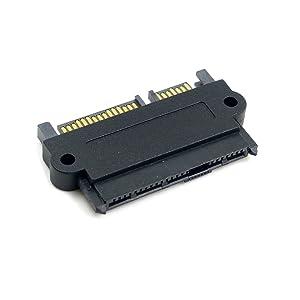 CY SATA Hard Disk Drive Raid Adapter with 15 Pin Power Port 7 Pin + 15 Pin to SFF-8482 SAS 22 Pin Converter