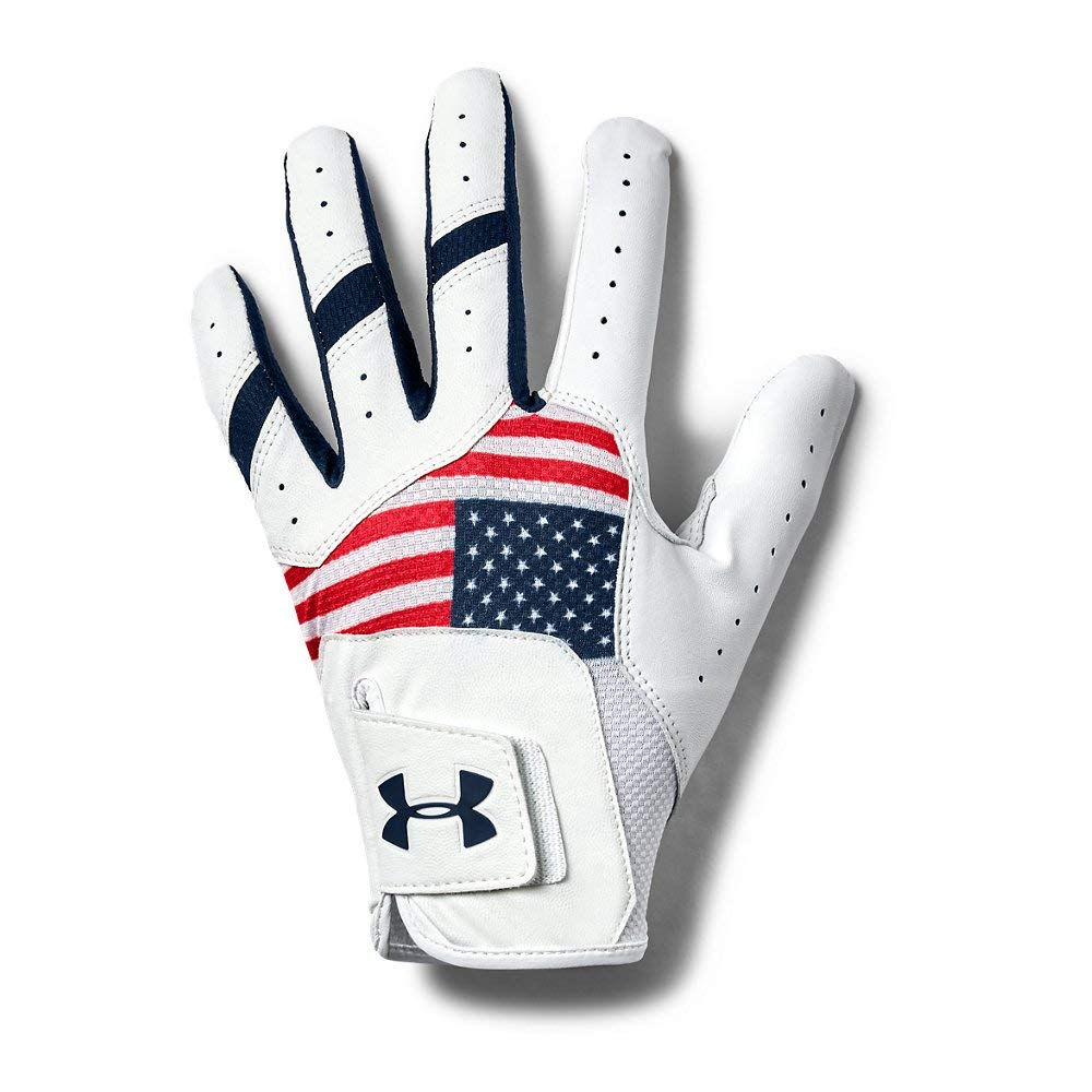 Under Armour Men's Iso-chill Golf Glove, Red (600)/Academy, Right Medium Cadet by Under Armour