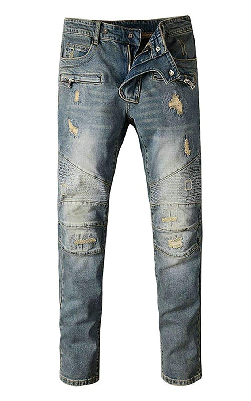 sadness n Mens Slim Fit Black Stretch Skinny Denim Jeans