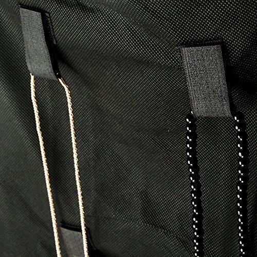 Tama/ño 100cm x42cm Somore Organizador de Joyas de Doble Cara Colgantes Pendientes del Collar de la Pulsera 24 bolsillos y 26 de gancho