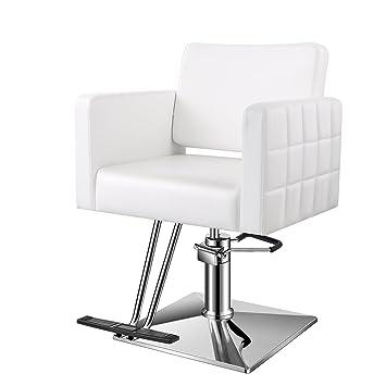 Baasha YA3 7 Half Assembly Styling Chair White