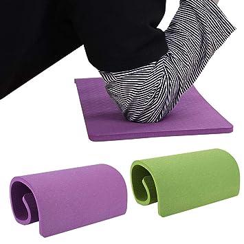 Cojín de la rodilla de la yoga, antideslizante EVA portátil ...