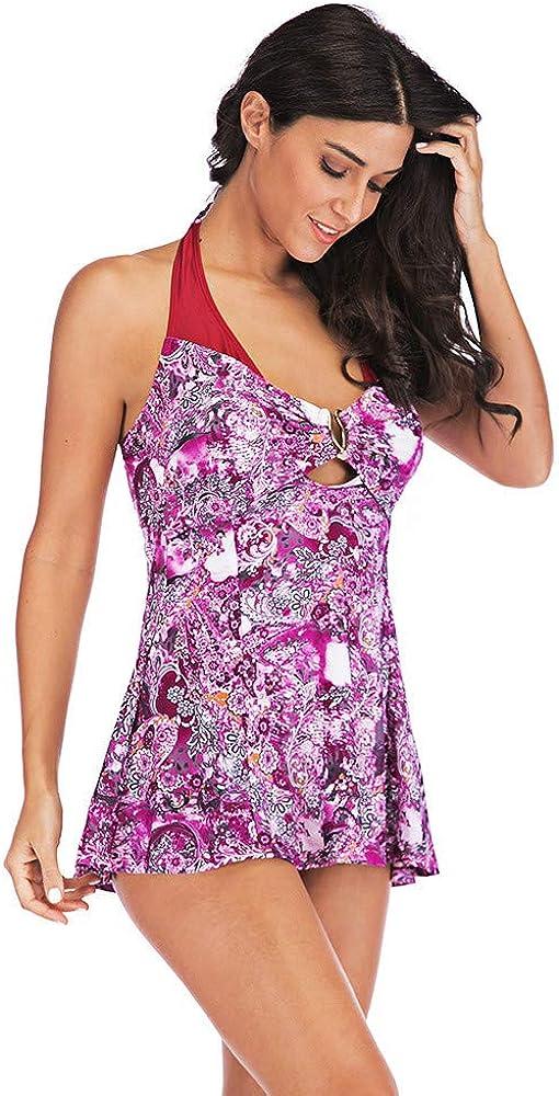 OPAKY Traje de Ba/ño para Mujer Ropa de Playa Ropa de Ba/ño Acolchada Ropa de ba/ño Ba/ñadores Mujer Traje de Ba/ño de Dos Piezas Tankini Bikini Mujer De Ba/ño Beachwear Tallas Grandes