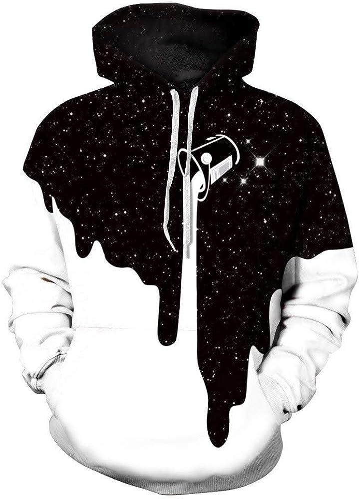 superS capsuleSXZS Unisex 3D Starry Kunst Hoodie Kapuzenpullover Frauen Herbst Und Winter L/ässig Paare Sweatshirt