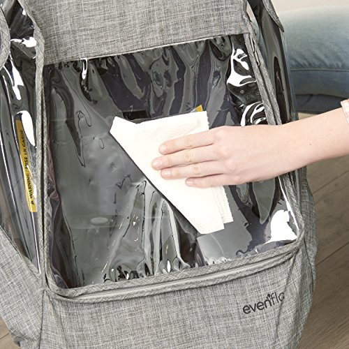 Evenflo Infant Car Seat Weather Shield and Rain Cover, Grey Melange by Evenflo (Image #7)
