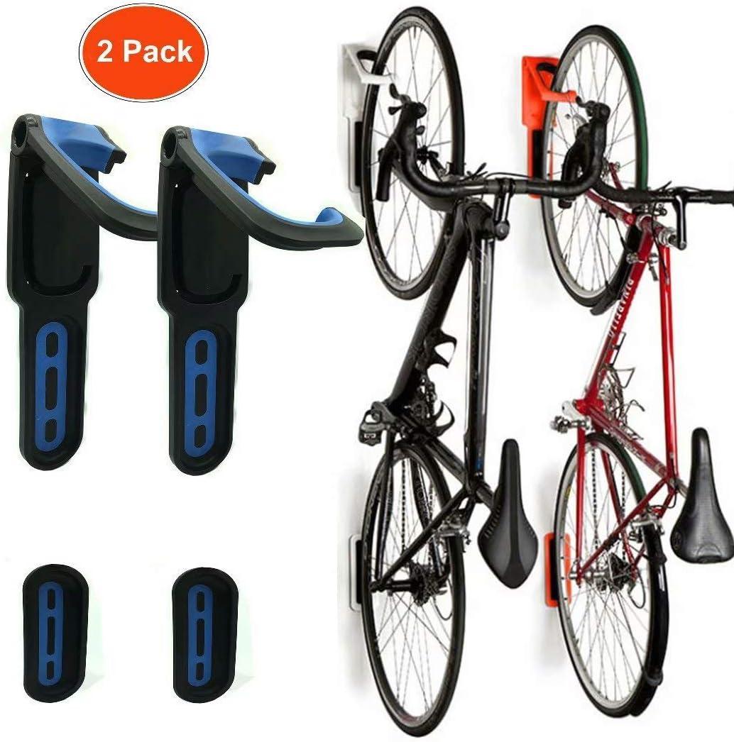 Reliancer 2 unidades de soporte vertical plegable para bicicleta ...