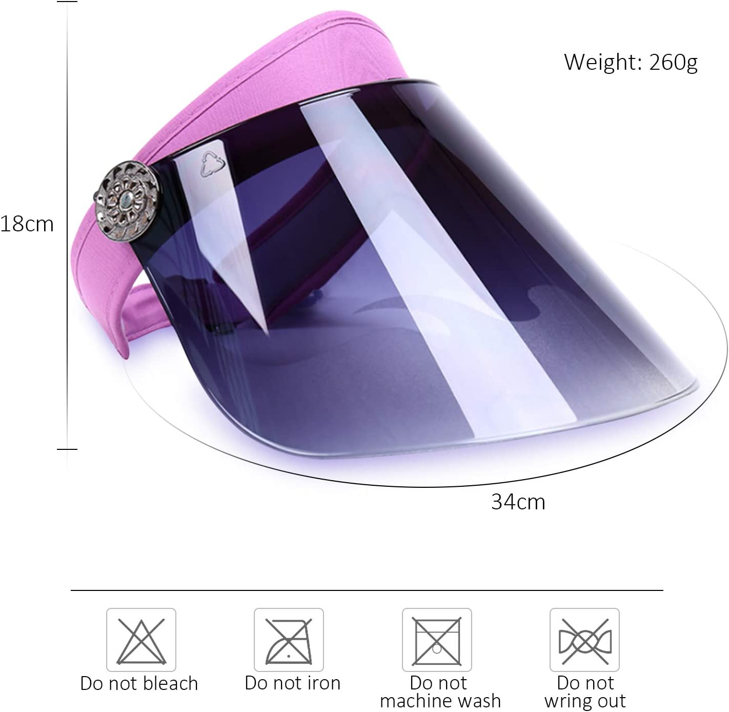 DORRISO Nuovo Cappello Protezione Solare Visiera Anti-UV/Viaggio Equitazione Escursionismo Spiaggia Unisex Berretto Tinta Unica,Taglia Unica