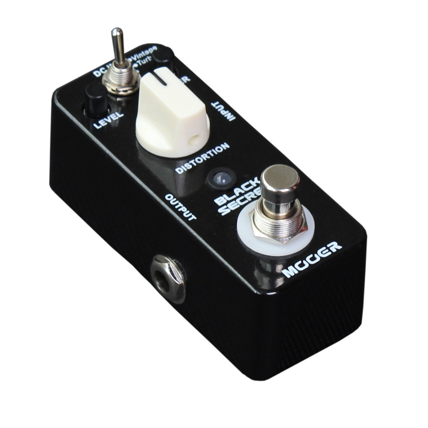 mooer black secret distortion micro pedal musical