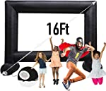 Sewinfla 16Ft Inflatable Movie Screen with Blower - Front and Rear