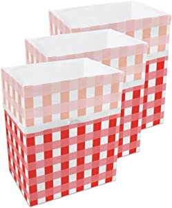 Clean Cubes 13 Gallon Disposable Sanitary Trash Cans & Recycling Bins, 3 Pack (Picnic)