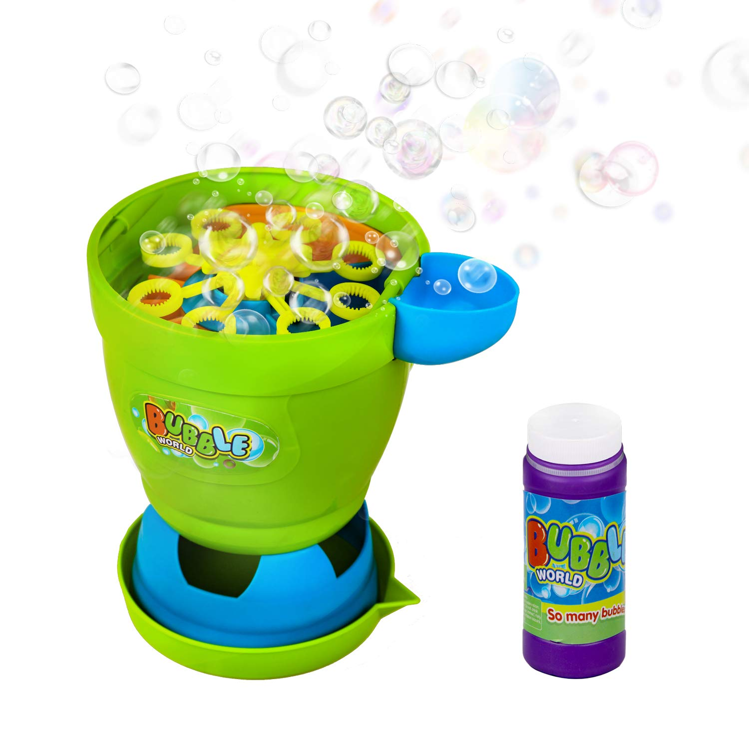 ToyerBee Bubble Machine- Automatic Bubble Maker with Bubble Solution, 1000+ Bubbles per Minute, Outdoors& Party &Wedding, Bubble Blower Toy for 4.5.6.Years Kids &Boys & Girls & Toddlers by ToyerBee (Image #1)