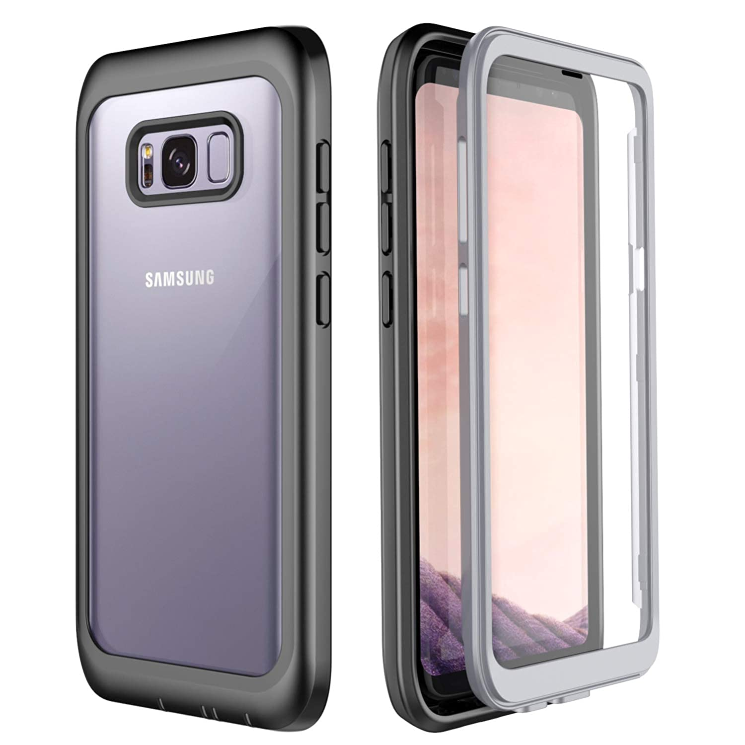 outlet store 32723 484ba Samsung Galaxy S8 Plus Case, Singdo Built-in Screen Protector Cover 360  Degree Protection Heavy Duty Clear Bumper Case for Samsung Galaxy S8+ Plus  ...