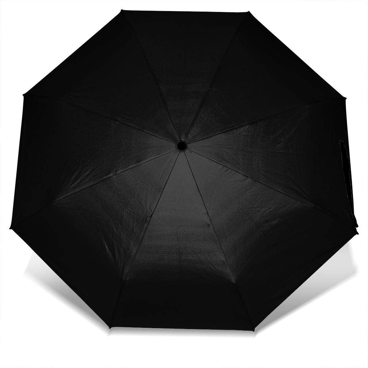 Tropical Seamless Pattern Windproof Travel Umbrella Manual Tri-fold Umbrella