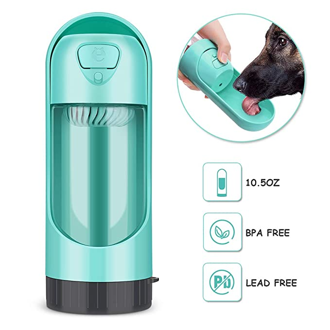 YOUTHINK Botella de Agua para Perros Gatos Dispensador Mascotas Bebedero Taza Antibacterial Portátil Telescopic para al Aire Libre Viaje Caminar 300 ML ...
