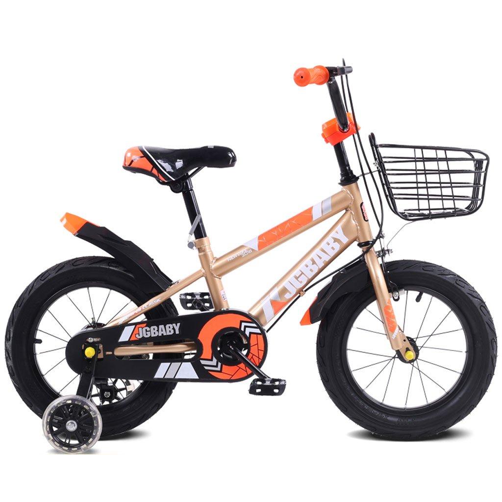 子供の自転車2-5-8歳の男性と女性のベビーカー12インチ/ 14インチ/ 16インチの子供3輪ペダル自転車オレンジ ( Size : 12 inches ) B07DPPW31Q