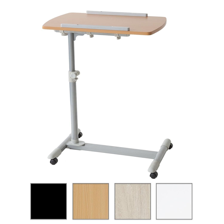 Albatros table d'appoint mAX pflegetisch tek table de lit réglable en hauteur et inclinaison/sens de rotation buche