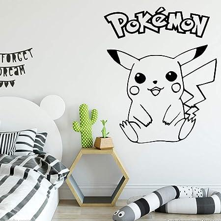 ziweipp Dibujos Animados Pokomon Pikachu Tatuajes de Pared de ...