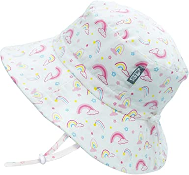 L: 2-5 Years, Strawberry Jan /& Jul Sun-Hats for Girls Adjustable UPF 50 Protection in Summer