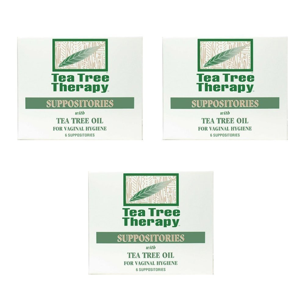 Tea Tree Suppository Tea Tree Therapy (3-Pack of 6) by Tea Tree Therapy