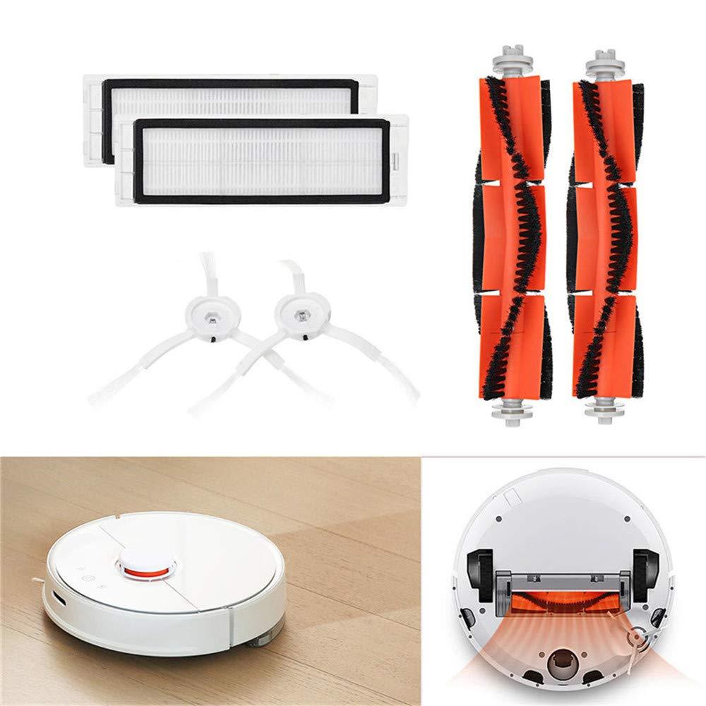 Gaddrt Bü rstenfilter Seitenbü rsten Zubehö r fü r XIAOMI Robot Vacuum Home Appliance Ersatz-waschbare Filter fü r Xiaomi Mi (C)