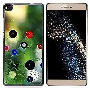 """For Huawei Ascend P8 (Not for P8 Lite) Case , Botón de costura costurera Diseño de Moda"""" - Diseño Patrón Teléfono Caso Cubierta Case Bumper Duro Protección Case Cover Funda"""