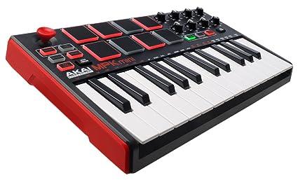 Akai Professional MPK MINI MKII | 25-Key Portable USB MIDI Keyboard With 8  Backlit Performance-Ready Pads, 8-Assignable Q-Link Knobs & Software