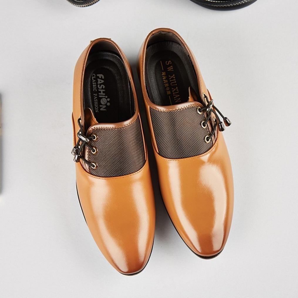 Covermason Zapatos Zapatos de negocios, oxford modernos con cordones y cordones de cuero con cordones: Amazon.es: Ropa y accesorios