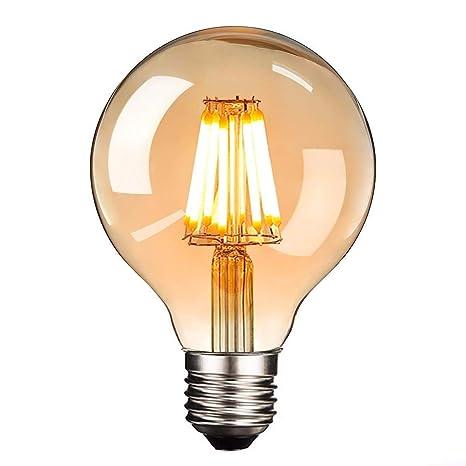 Lightoray LED Edison Bombilla E27 8W Dimmable Vintage Ardilla ...