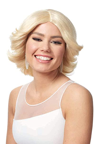 amazon com costume culture 80 s feathered wig clothing