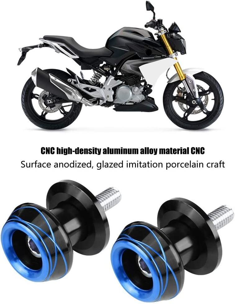 2pcs 8MM//10MM Motorcycle Universal CNC Machined Aluminum Alloy Swingarm Swing Arm Spools Slider Screws Green Suuonee Swing Arm Spool