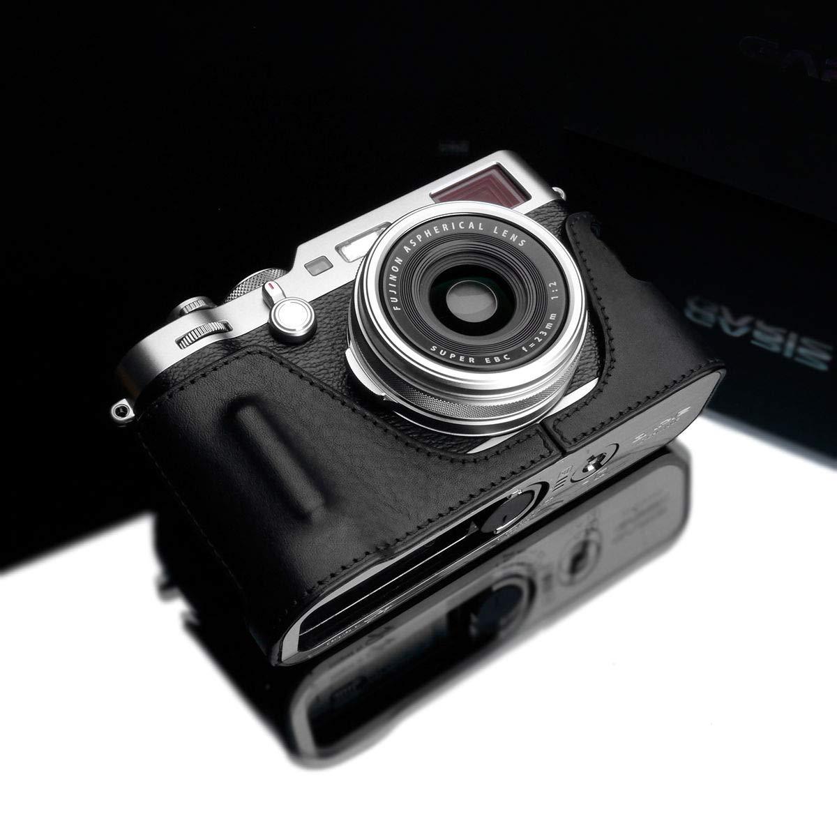 GARIZ HG-X100FBK 本革ハーフケース 富士フイルム X100F用 ブラック   B07MHNL3LY