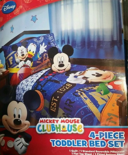 Mickey Mouse 4 Piece Toddler Bedding Set by Mickey Mouse