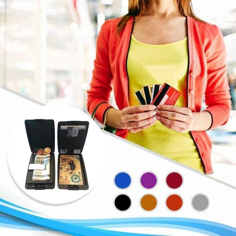 RFID Secure Deposits and Payouts Wallet Wallet Aluminum Wallet Credit Card Holder,Metal Card Holder Wallet RFID Blocking Aluminum Credit Card Protector for Men /& Women Blue