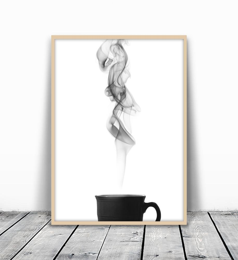 Zen art zen decor zen wall print minimalist art print black and white print zen wall art tea wall art coffee print coffee poster coffee wall art