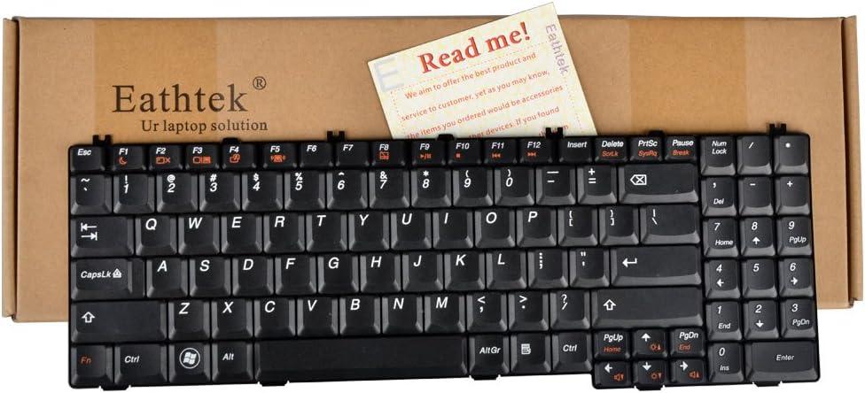 Eathtek Replacement Keyboard Compatible for IBM Lenovo B550 B560 V560 G550 G555 G550A G550AX G550M Series Black US Layout, Compatible Part Number V-105120AS1-US V-105120AS1 25-008409