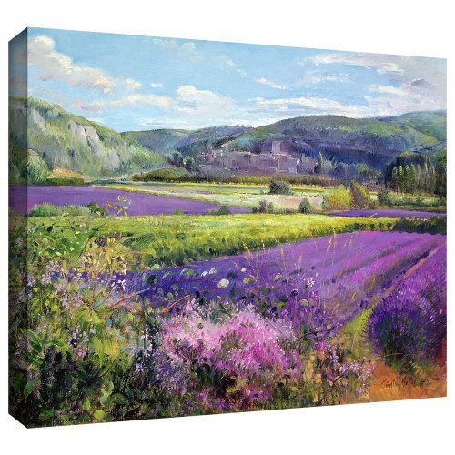 ArtWall 'Lavender Fields in Old Provence' Gallery-Wrapped Canvas Art by Timothy Easton, 36 by 48-Inch from ArtWall