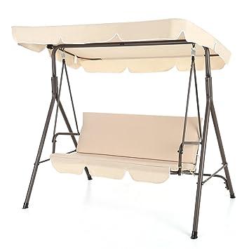ikayaa silla columpio balancn de jardn con toldo para patio aire libre terraza