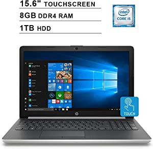"HP Pavilion 2020 15.6"" HD Touchscreen Laptop Computer, Core i5-7200U Up to 3.1GHz, 802.11AC WiFi, Bluetooth 4.2, DVDRW, USB 3.1, Windows 10, 8GB DDR4, 1TB HDD"