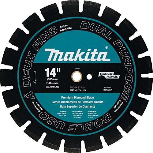 (Makita T-01270 14 Inch Diamond Blade Dual)