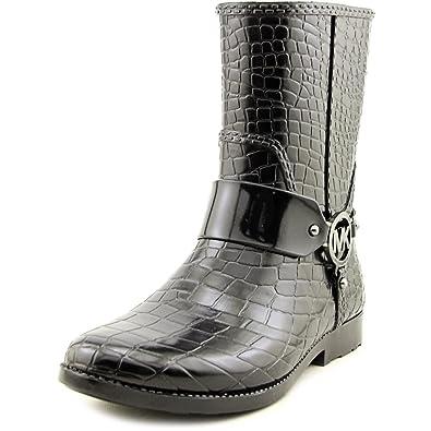 95dc3e19102 Michael MICHAEL KORS MK Croco Rain Bootie Bottes Femmes Noir - 36 - Bottes  de Pluie