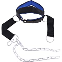 Blesiya Adjustable Head Harness Heavy Duty Neck Builder Belt Weight Lifting Chain Athletics