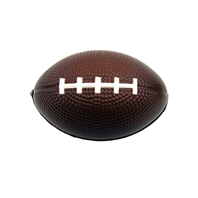 TG,LLC Treasure Gurus Mini Football Sports Squish Toy Foam Anxiety Relief Sensory Squeeze Stress Ball Party Favor: Toys & Games