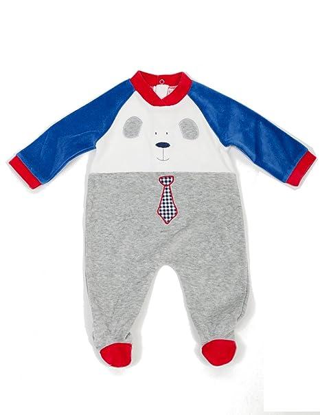 Pelele de Terciopelo para Bebé Niño - Talla 0 Meses