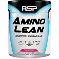 RSP AminoLean - All-in-One Pre Workout, Amino Energy, Weight Loss Supplement with EAAs, Complete Preworkout Energy & Natural Fat Burner for Men & Women, Pink Lemonade, 30 Servings
