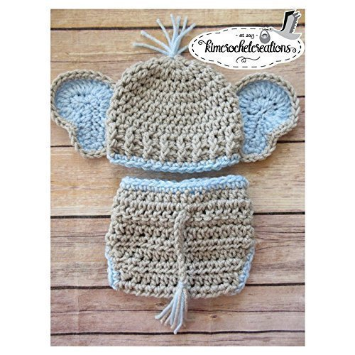 Image Unavailable. Image not available for. Color  Newborn Crochet Elephant  Hat and Diaper Cover ... 799f46dcb9d