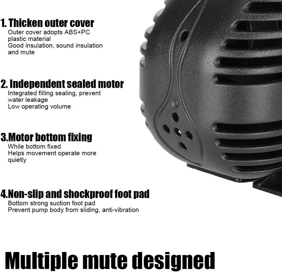 Bomba de Fuente de Filtro Inferior Accesorio acu/ático para Acuario pecera Enchufe de la UE 220-240 V Zerodis Bomba de Agua Sumergible Aqaurium de 15 W