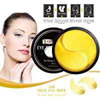 Awhao Eye Treatment Masks Gold Eye Mask with Collagen Under Eye Patches, Dark Circles Under Eye Remove, Under Eye Bags Remove, Gel Pads 30 Pairs