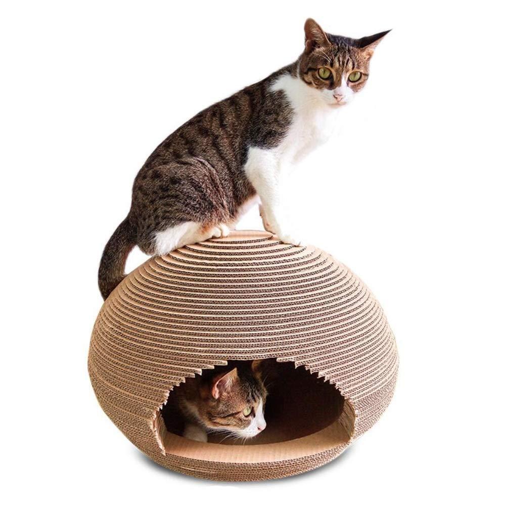 スフィアキャットハウスキャットスクラッチボード粉砕爪段ボール紙猫ラウンド玩具ペット用品ラウンジ450mm