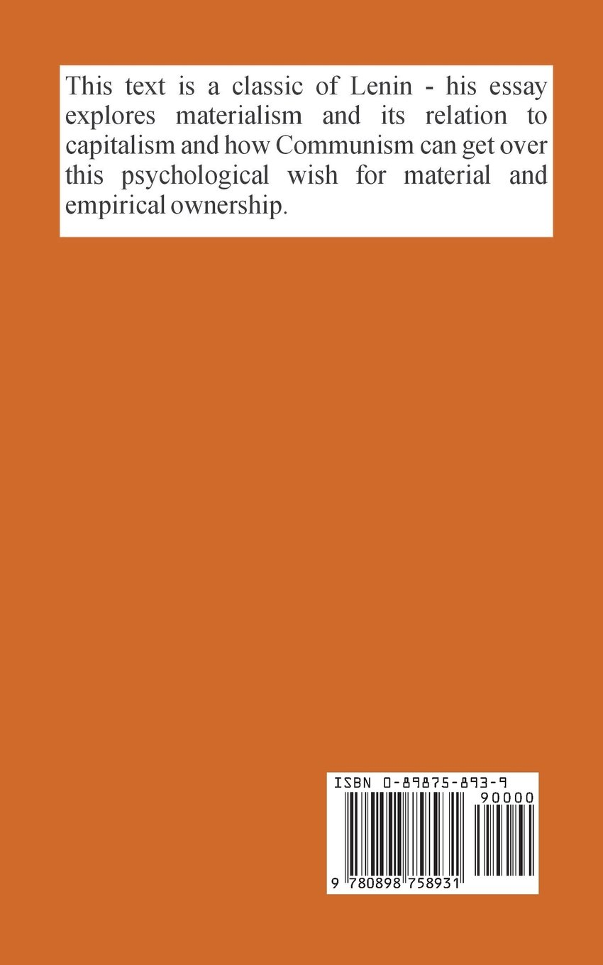 materialism and empirio criticism critical comments on a materialism and empirio criticism critical comments on a reactionary philosophy vladimir ilich lenin 9780898758931 com books