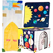 Hide A Boo Outer Space Pop Up Tent and Play Mat with Enchanted Castle Doorway -